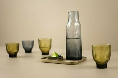 Kinta | Carafe Glass - Smoked Grey-Blue