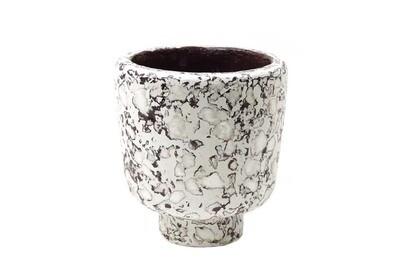 Kinta | Vase on Foot Cap - Aubergine