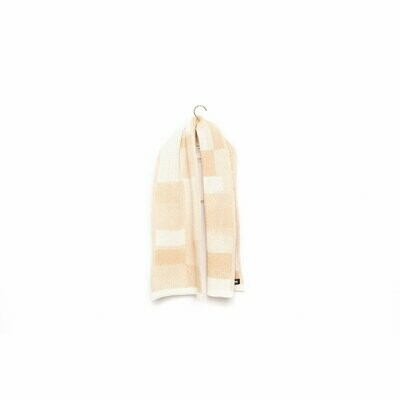 Wolvis | Knitted Scarf Merino Wool for kids - papyrus white & nude (one left)