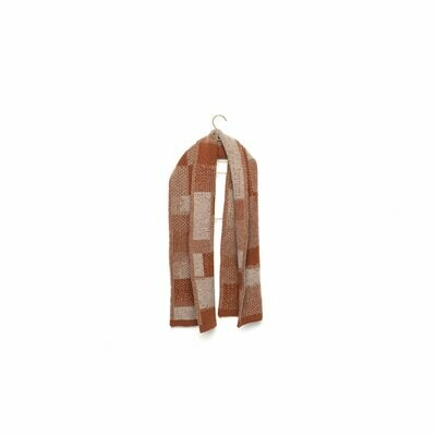 Wolvis | Knitted Scarf Merino Wool for kids - cognac & grey