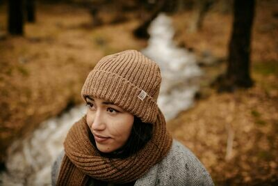 Näz | Recycled Wool Beanie Short - Caramel Brown (one left)