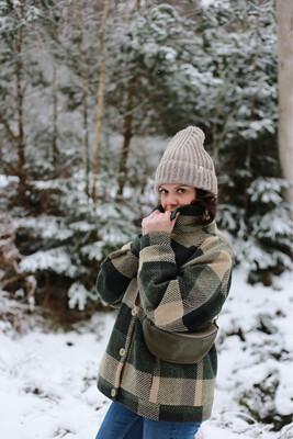 Näz | Recycled Wool Beanie Long - Beige Nep