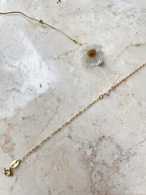 Olá Lindeza  | Minimal Pearl Bracelet - 24k gold plated sterling silver
