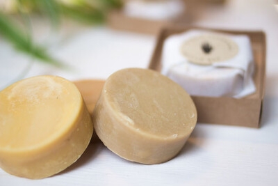 Dimgo | Handmade Natural Body Butter Bar - Blood Orange & Lemongrass