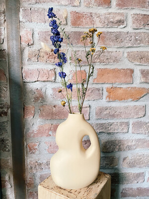 Schneid | Ceramic Vase Mustard and Dried Flowers