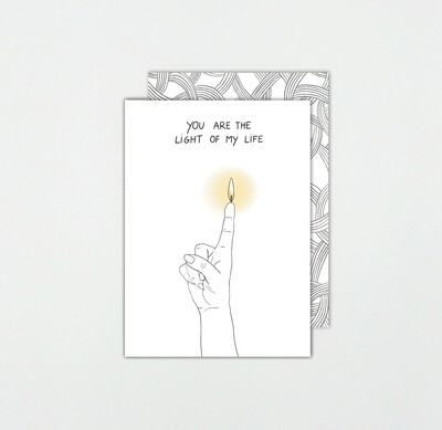 SOMAJ | Light of my life - Card with art envelope