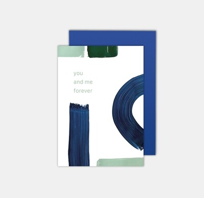 SOMAJ | you and me forever - art card with blue envelop
