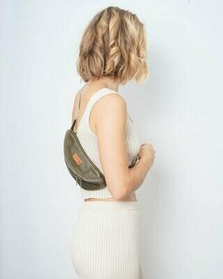 MULINU   Hipbag / cross body bag HENNES S olive green leather
