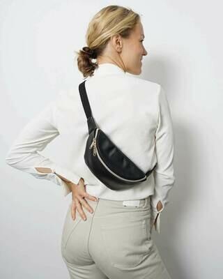 MULINU   Hipbag / cross body bag HENNES S black leather gold