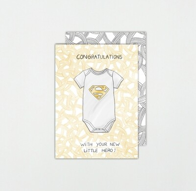 SOMAJ   Baby Birth cards with design envelop