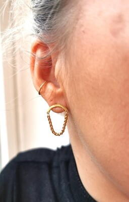 URBAN SWAG | Golden chain earrings scale S
