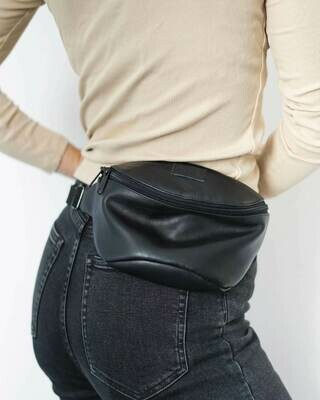 MULINU   Hipbag / cross body bag HENNES S black leather