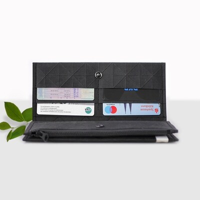 Kummerlöwe | Black Vegan Wallet - Big
