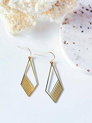 Isa & Roza   Gold Grid Earrings