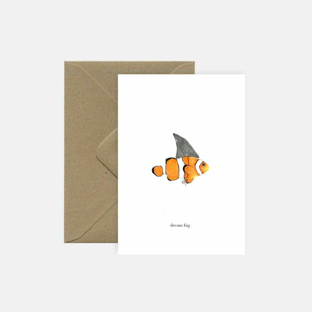 pink cloud studio   Dream big - folding card with envelope
