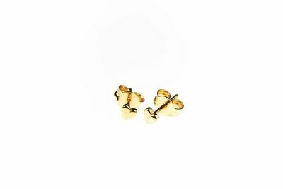 Selva Sauvage | Golden Ear studs Mini Hearts - 14k Gold Plated Sterling Silver (a pair or a single)