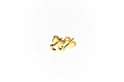 Selva Sauvage | Golden Ear studs Mini Moons - 14k Gold Plated Sterling Silver (a pair or a single)