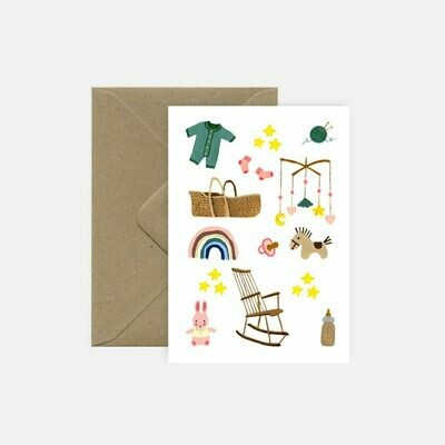 pink cloud studio | Baby days - folding card with envelope