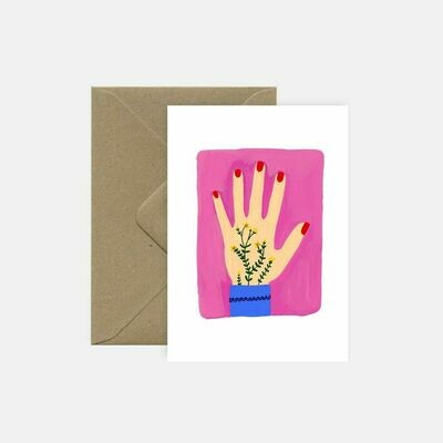 pink cloud studio | Tattoo Hand - folding card with envelope