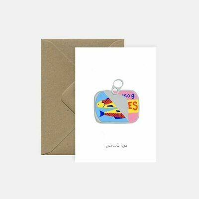 pink cloud studio | Sardines - folding card with envelope