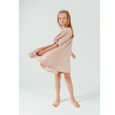Selva Sauvage | Dress Emilia soft pink - organic cotton (available in different colors)