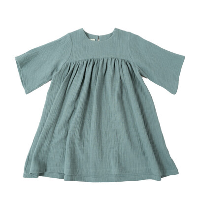 Selva Sauvage | Dress Emilia mineral blue - organic cotton (available in different colors)