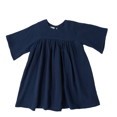 Selva Sauvage | Dress Emilia navy blue - organic cotton (available in different colors)