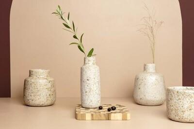 Kinta | Vase - wood and paper pulp 24cm