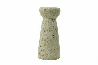 Kinta | Vase Hyacinth - wood and paper pulp beige 24cm and dried flowers