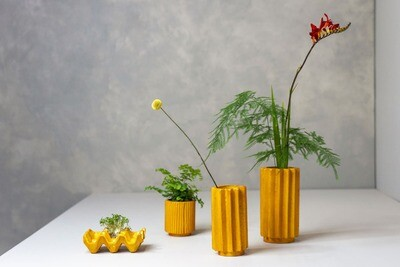 Kinta | Vase Cap Pulp Pumpkin Orange Big - 20cm