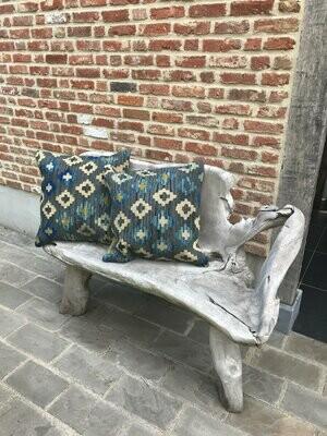 Olá Lindeza   Royal Blue Kilim Pillow