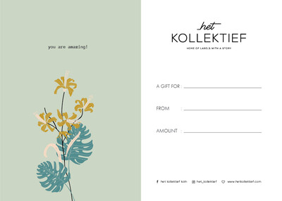 Gift Card - Flowers you are amazing!