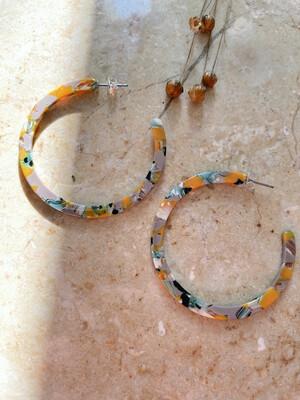 Olá Lindeza | Spring Tortoise Hoop Earrings