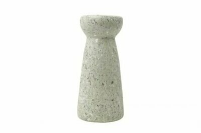 Kinta | Vase Hyacinth - cap pulp white 24cm and dried flowers