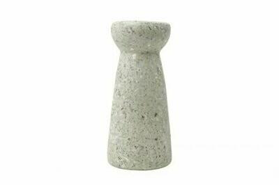 Kinta | Vase Hyacinth - cap pulp white 24cm and dried flowers