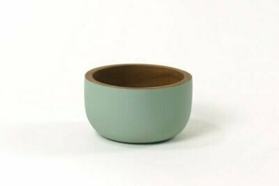 Kinta | Medium Bowl - acacia rustic matt greyed mint 11cm