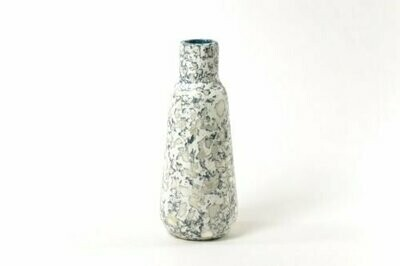Kinta | Vase Cap Pulp airforce blue - 23cm and dried flowers