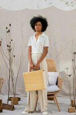 Benedita Formosinho   Luna Blouse - white linen and cotton (sold out)