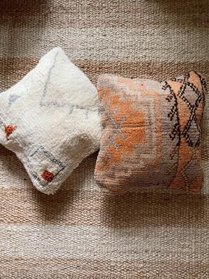 Olá Lindeza   Boujad Berber Pillow - orange brown taupe
