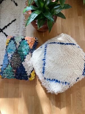 Olá Lindeza   Azilal Berber Pouf - Floor Pillow