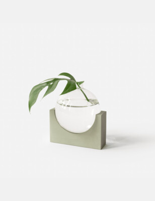 House Raccoon | June Small Vase - olive green (also available in black marble and white marble)