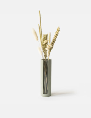 House Raccoon | Lily Small Vase - olive green (also available in white marble and black marble)
