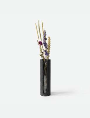 House Raccoon | Lily Small Vase - black marble (also available in olive green and white marble)