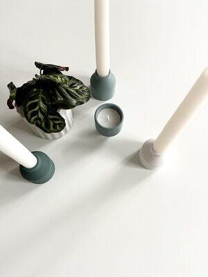 House Raccoon   Harry candle holder - Moss dark green (set of 2)
