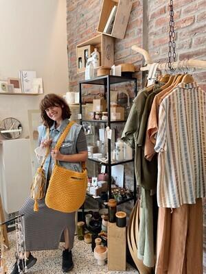 Inapavl   Handmade Crochet Shopper Bag - Ochre Yellow