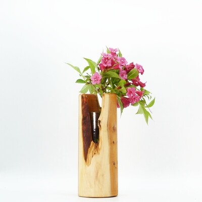 nest gestaltung   Branch Vase with recycled glass vase on the inside - 20cm