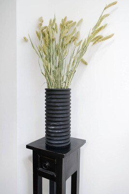 House Raccoon | Nora Big Vase - Black Marble 30cm