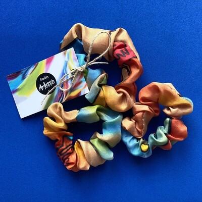 Atelier Arlette | Handpainted Silk Scrunchie - Valencia