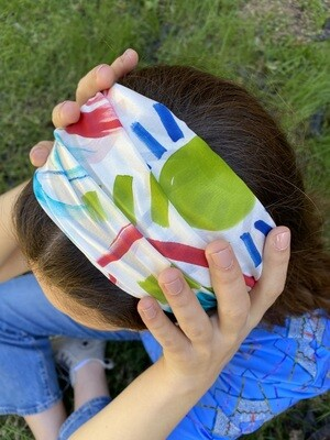 Atelier Arlette | Handpainted Silk Headband - el sol