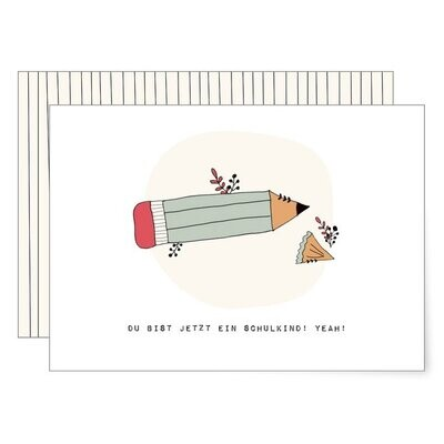 MIAO Papeterie | Card with envelope - zur Einschulung